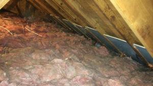 attic insulation installation