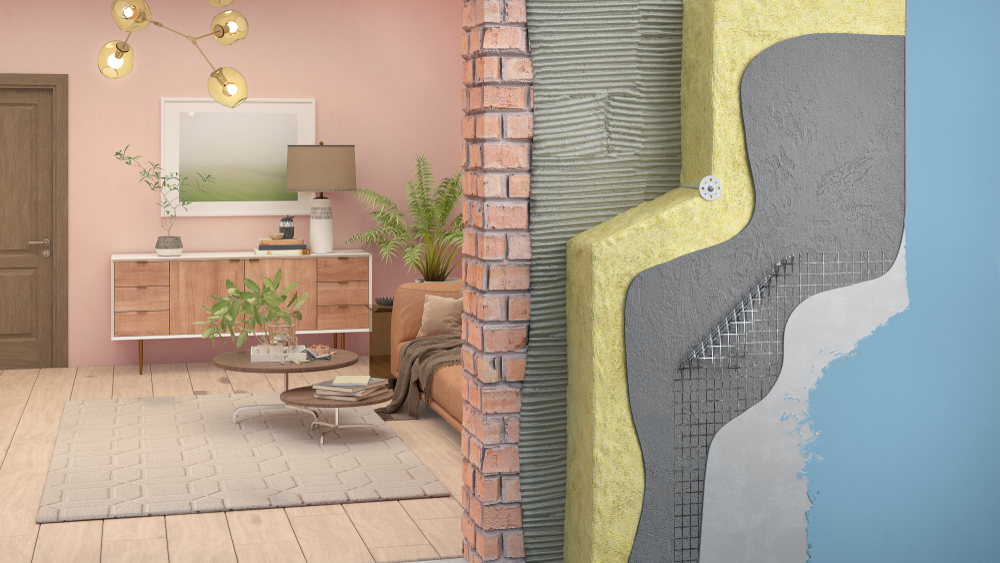 Wall thermal insulation in interior